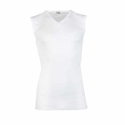Beeren heren shirt V-hals wit