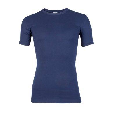 Beeren heren T-shirt ronde hals donker blauw