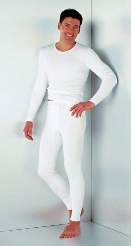 Con-ta heren pantalon lang aangeruwd wit