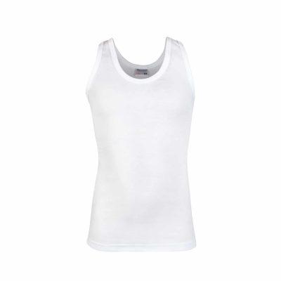 Jongens hemd elastisch wit
