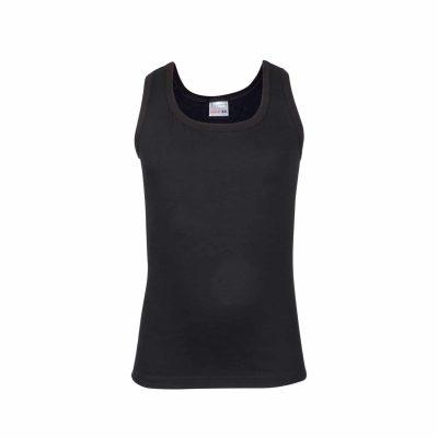 Jongens hemd mouwloos elastisch zwart