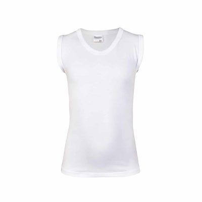 Jongens shirt mouwloos elastisch wit