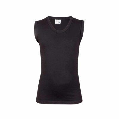 Jongens shirt mouwloos zwart