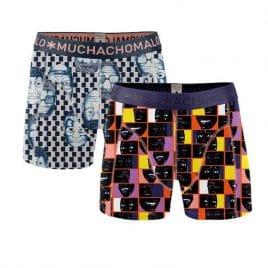 Muchachomalo jongens boxershort 2-pack gekleurd grijs