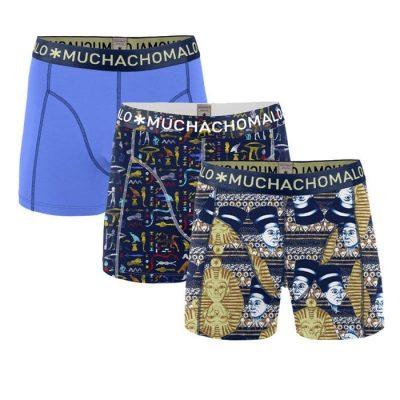 Muchachomalo jongens boxershort 3-pack blauw geel